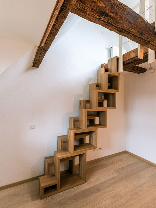 Interior Staircase Original Design Ideas. Unusual boxes for the construction of stairs