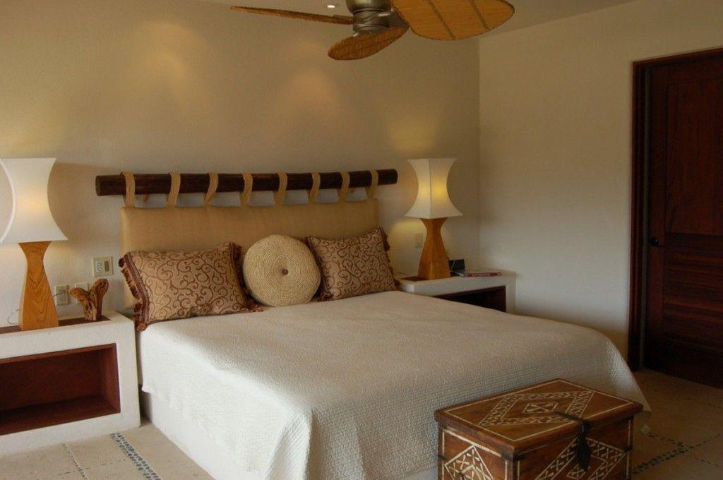 Bed Headboard Decoration Methods: Photos & Tips. Austere Scandinavian interior