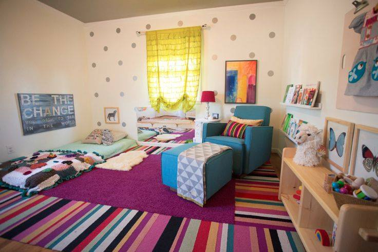 Rugs, Carpet, Carpeting Interior Design Ideas. Casual modern kids` room interior for everyday games and growing