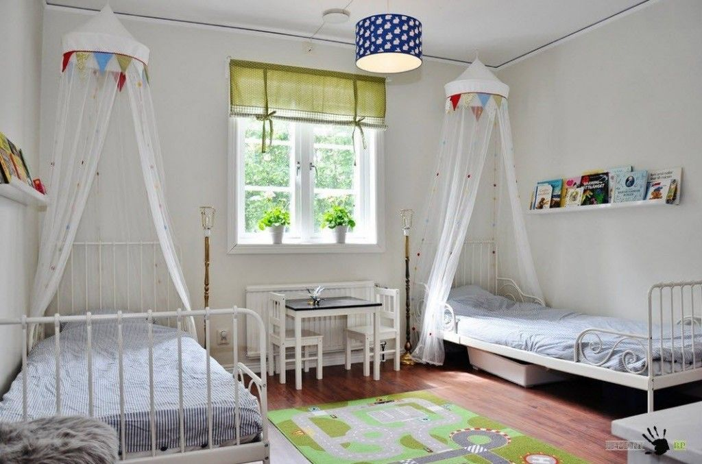 Kids` Room Furniture Selection Advice. Another successful design of the canopy for two children