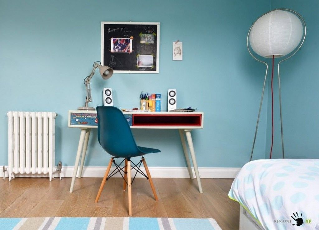 Kids` Room Furniture Selection Advice.  Blue walls for active boys