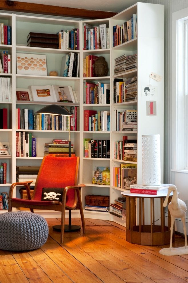 Nice Unusual Bookshelves Interior Decoration in the small living room
