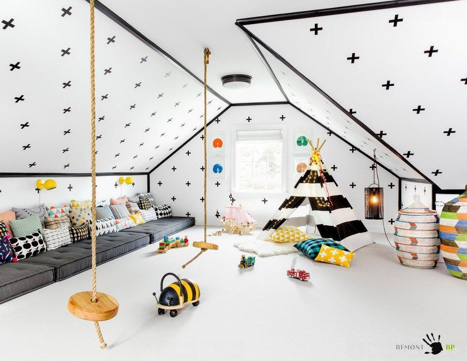 Kids` Room Furniture Selection Advice.  Fairy-tale white decoration of the children`s