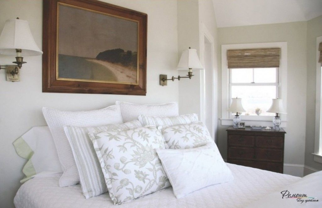 Headboard Wall Bedroom Interior Picture Placement Advice. Contrasting painting in the room