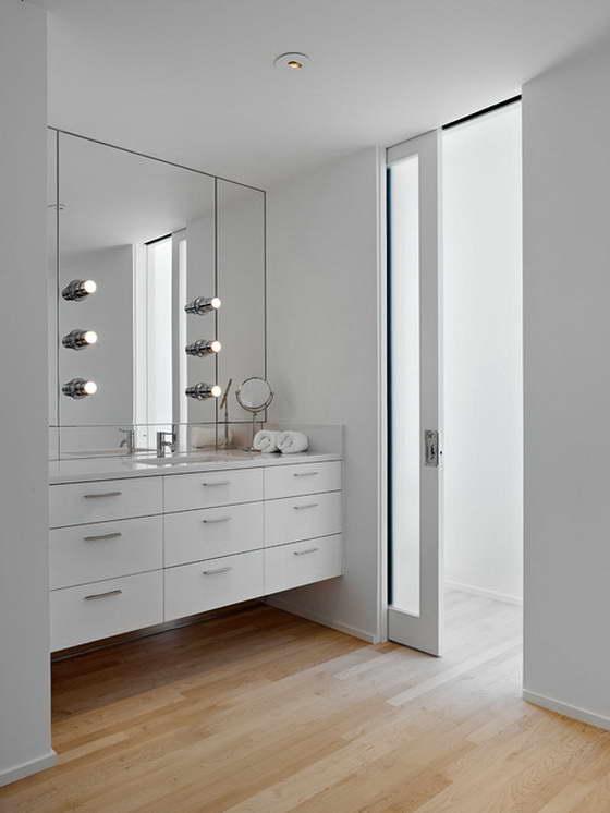 Sliding Doors Interior Design Ideas in the totally white room