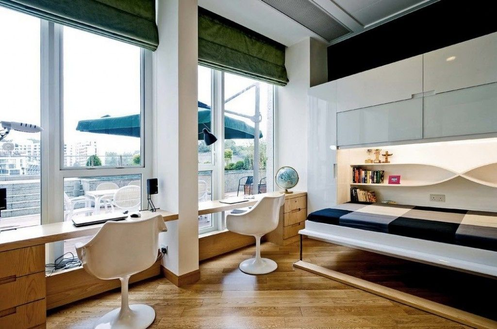 Built-in Bed Small Apartments Interior Design Solution. Nice solution for the veranda or penthouse flats