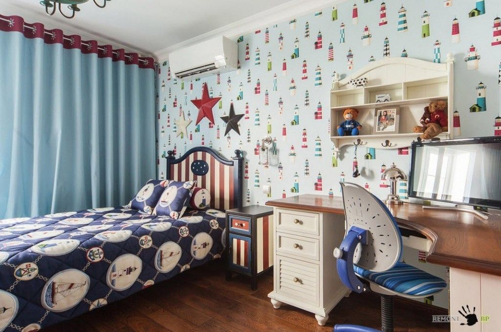 Kids` Room Furniture Selection Advice. Comics themed finishing of the individual premises