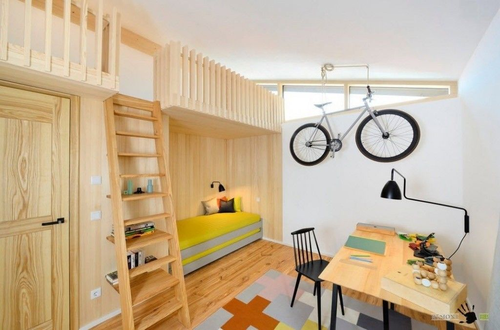 Kids` Room Furniture Selection Advice. Unique solution of the designing room for 3 and more little rascals