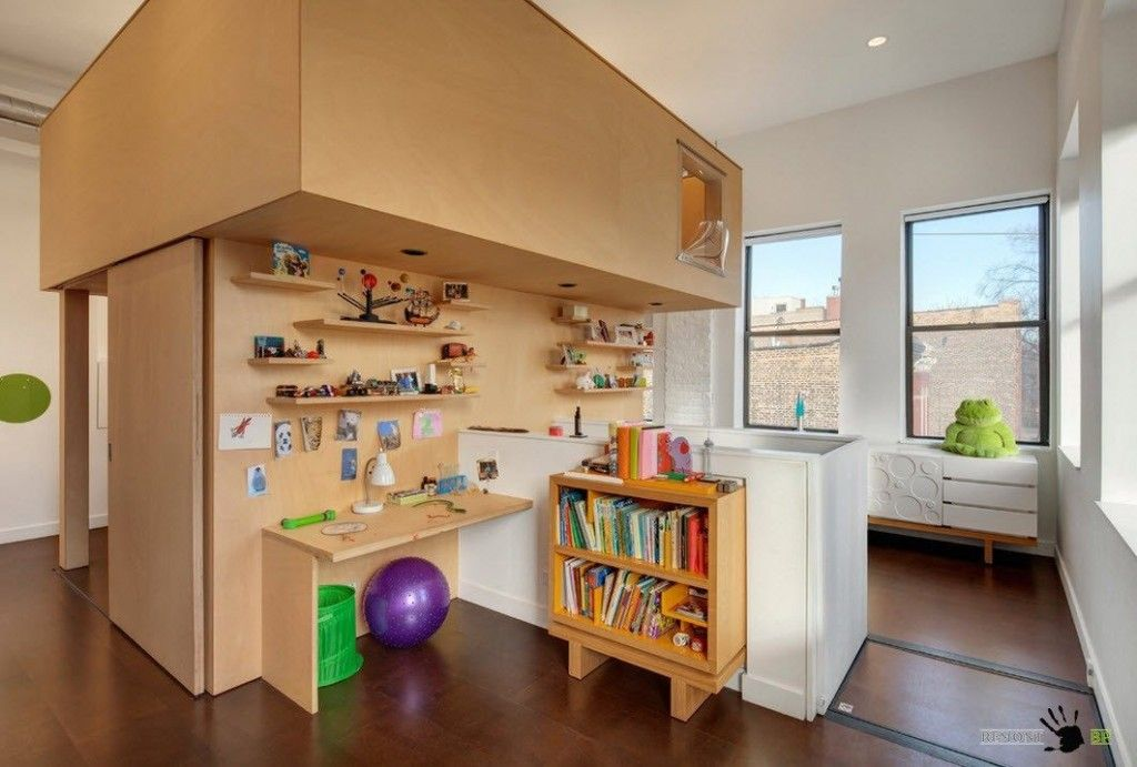 Kids` Room Furniture Selection Advice.  Wooden furniture with a lot of hidden space for personal things