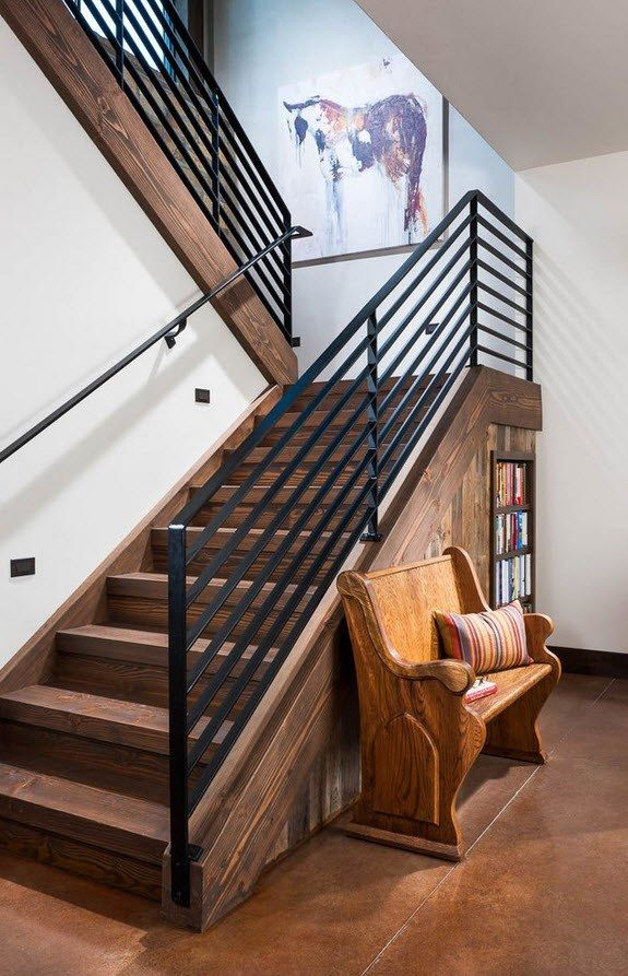 Interior Staircase Original Design Ideas. Rest corner under the