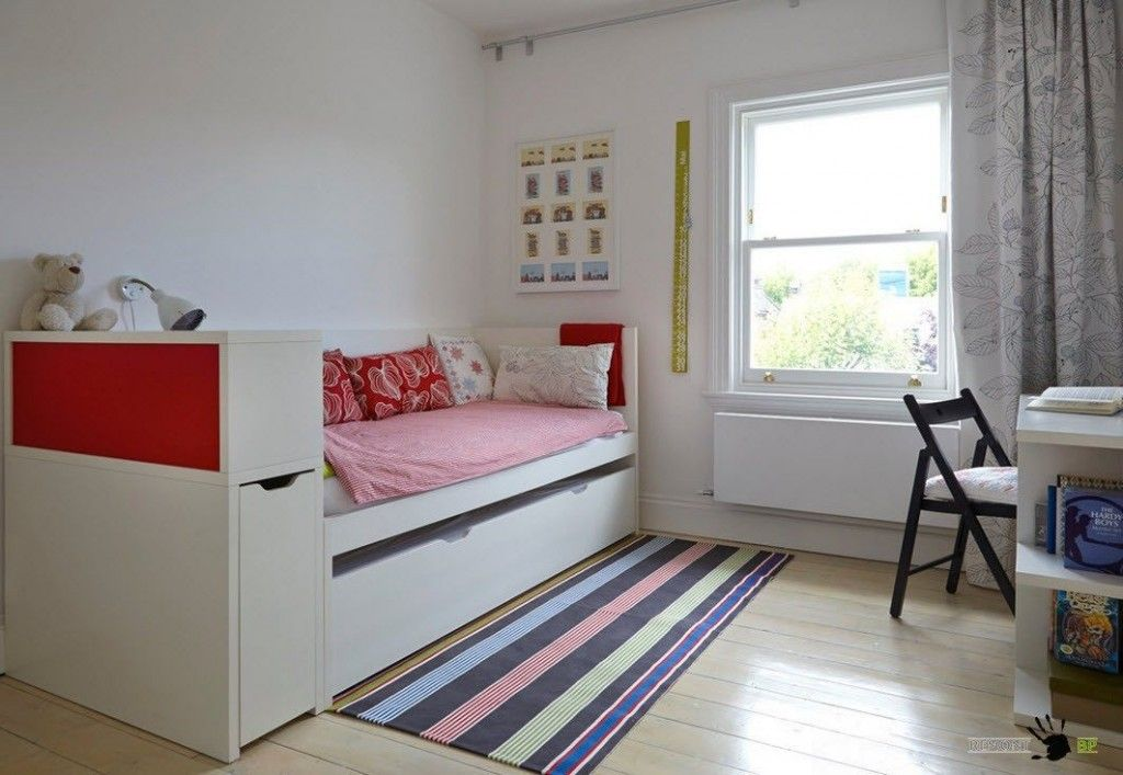 Kids` Room Furniture Selection Advice. Nice colorful interior design with white base