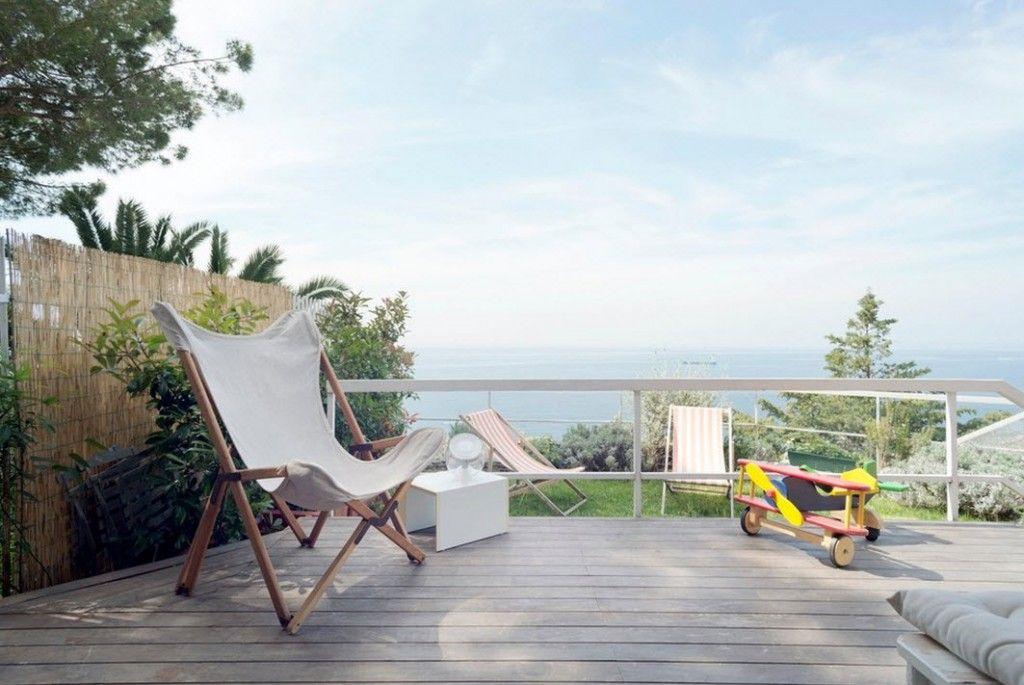 Italian Oceanside House White Modern Interior Design. Even outdoor terrace is not devoided from childish atmosphere
