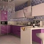 Kitchen Tiles & Furniture Color Сombination. Basic Rules in the purple room