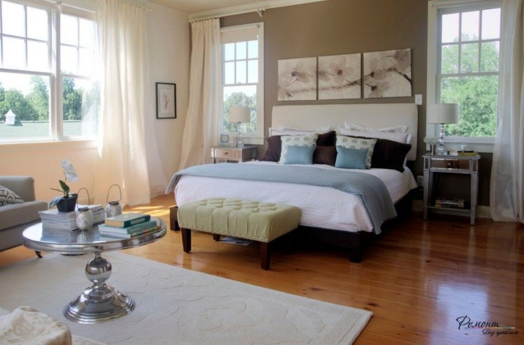 Headboard Wall Bedroom Interior Picture Placement Advice. bedside ottoman in the tone with painting installation making the overall design
