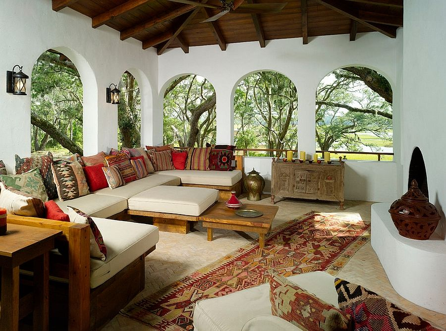 Mediterranean Interior Design Style in the Morroccan veranda
