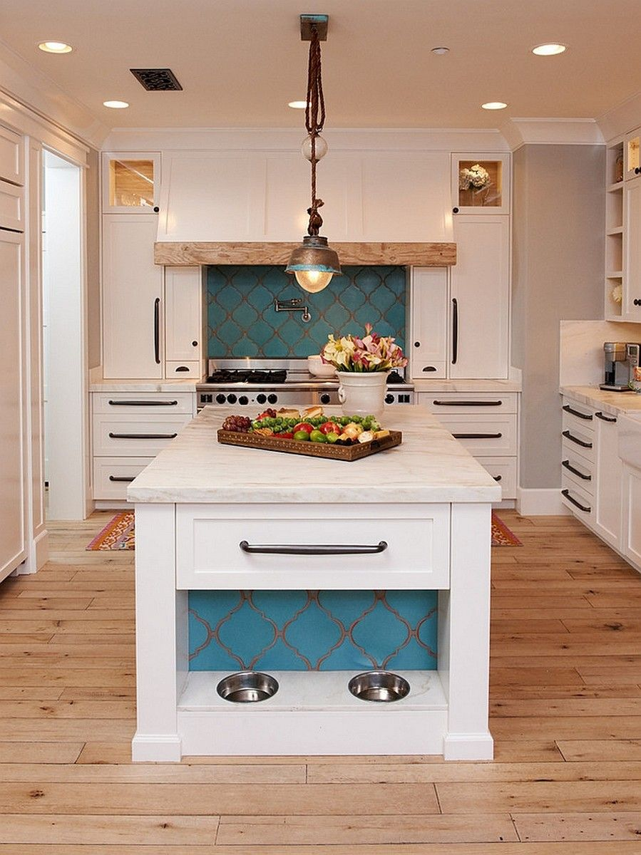 Mediterranean Interior Design Style White Neat Outsdanding Example Of Kitchen With The Criss Cross