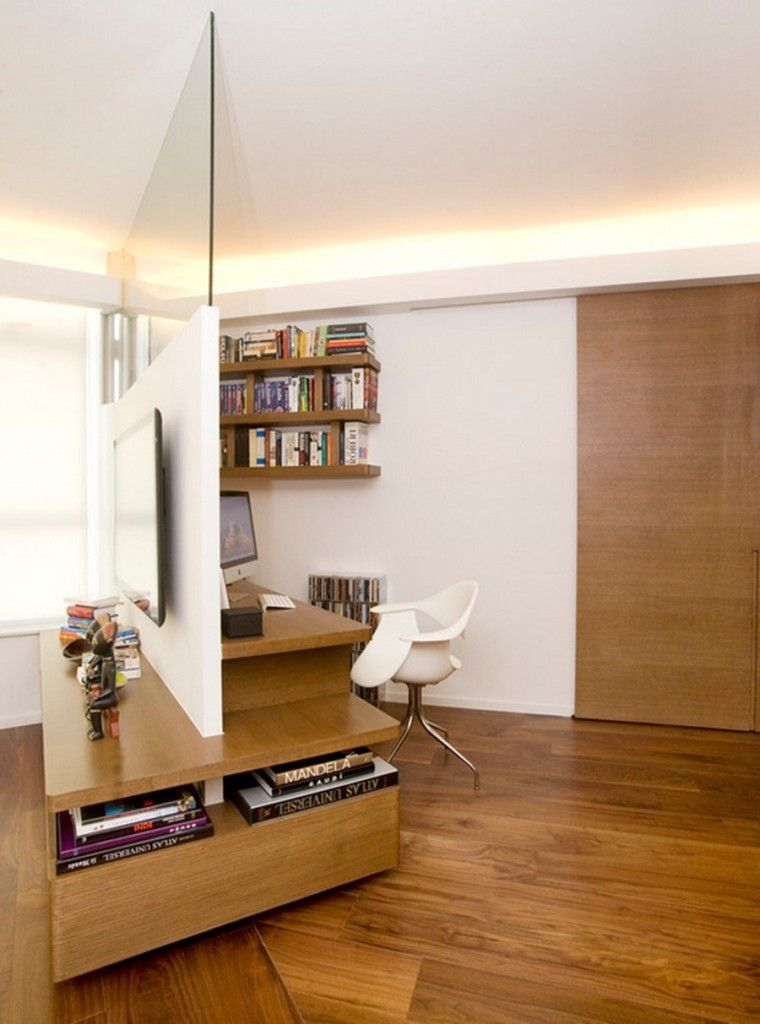Interior Partitions Room Zoning Design Ideas in the home office in white color theme