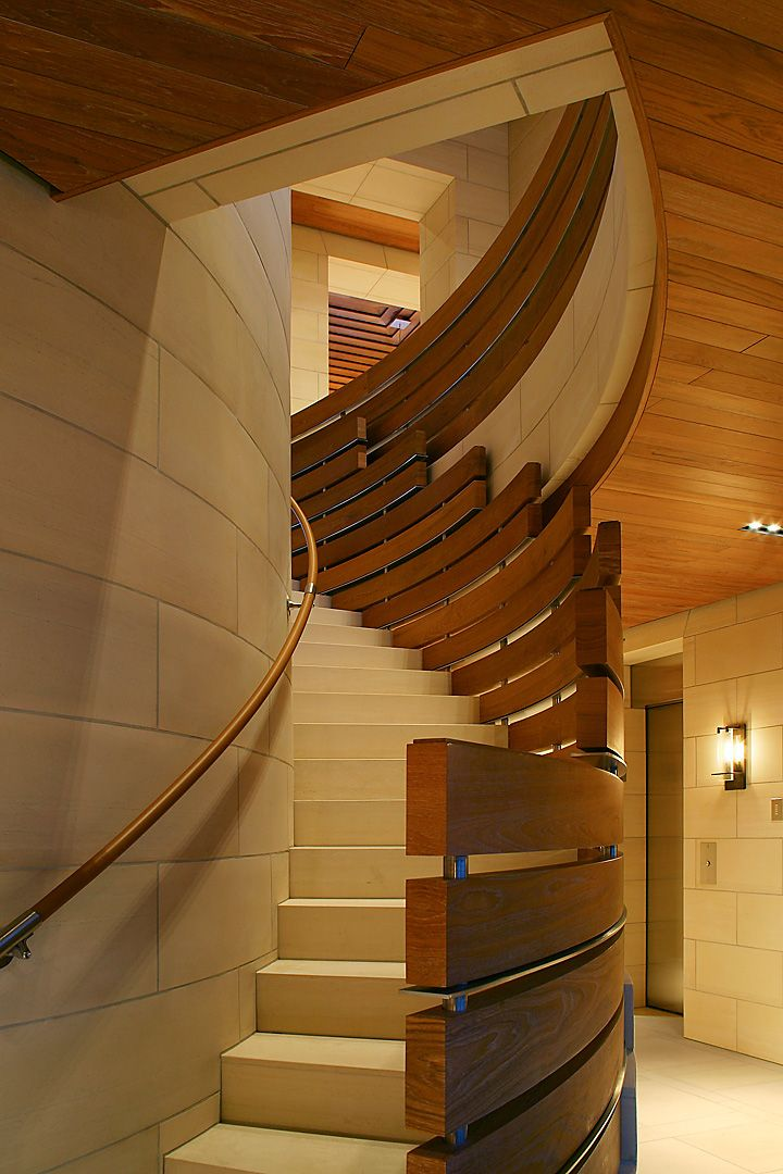 Staircase modern constructions types design for Curved staircases