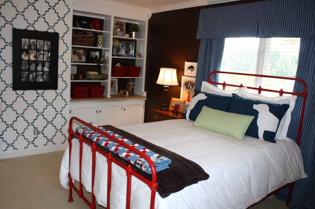 Red Color Interior Design Ideas. Pedantic styled kids` room with red designed touches