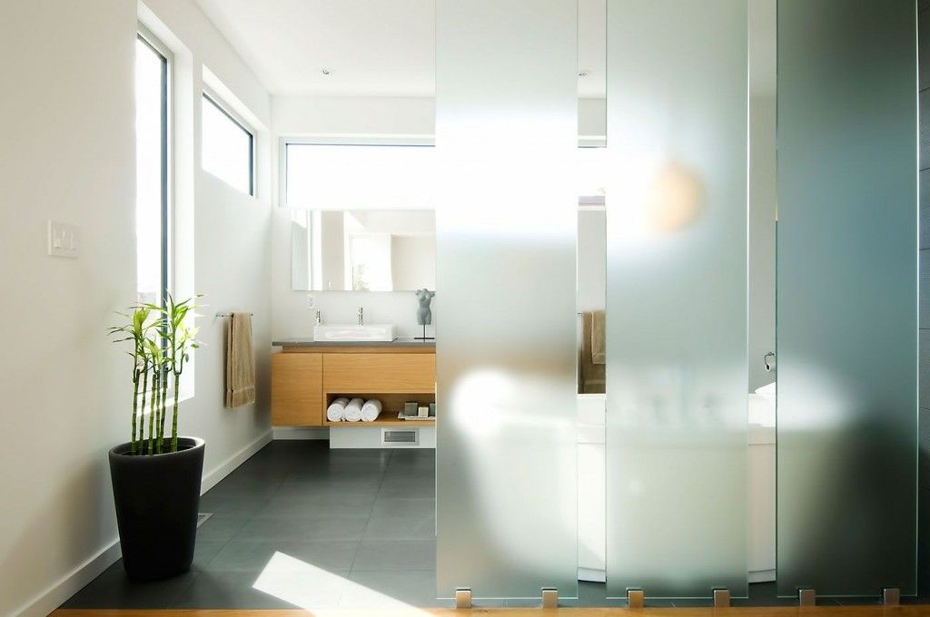 Interior Partitions Room Zoning Design Ideas. Plastic panels in the form of sliding doors