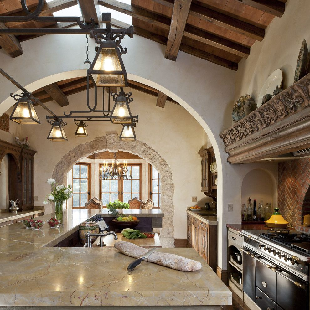 Mediterranean Interior Design Style. Kitchen with touch of Franch Provence