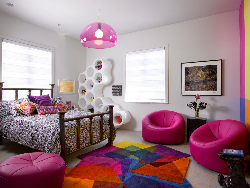 Rugs, Carpet, Carpeting Interior Design Ideas. Toys and soft purple bean bags