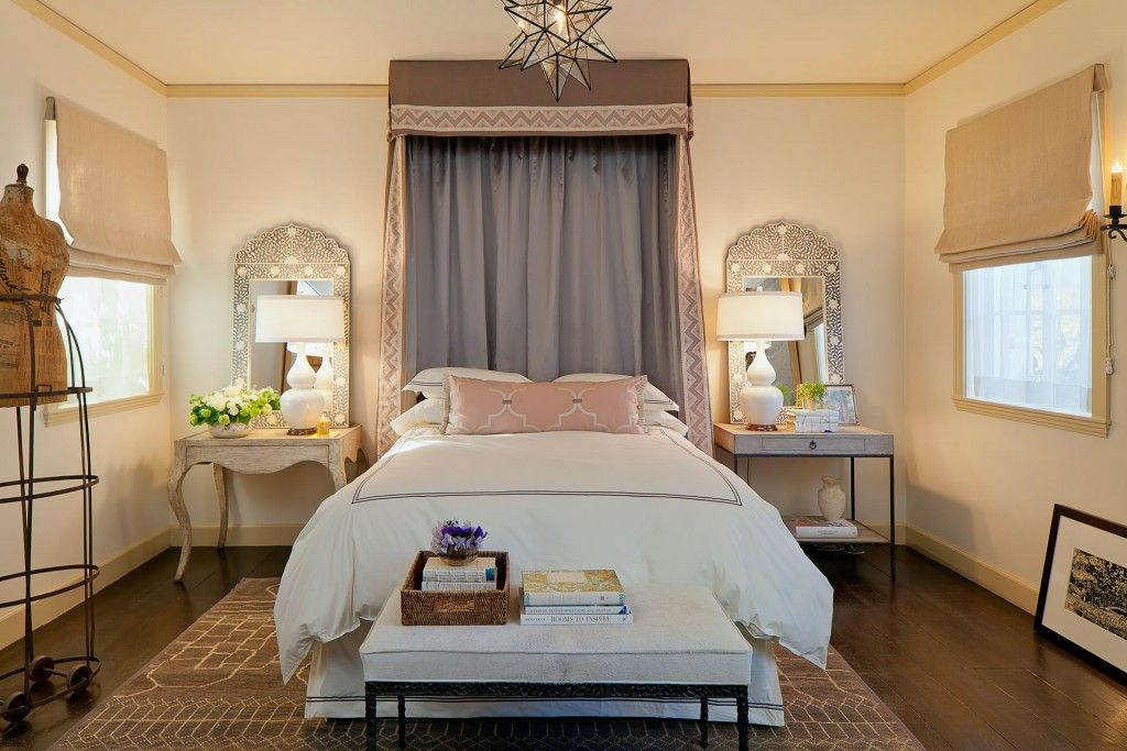 Mediterranean Interior Design Style. Nice night stands and lamps in the bedroom