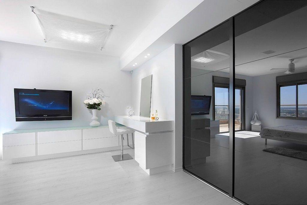 Women`s Personal Space: Boudoir Arrangement Ideas in hi-tech interior