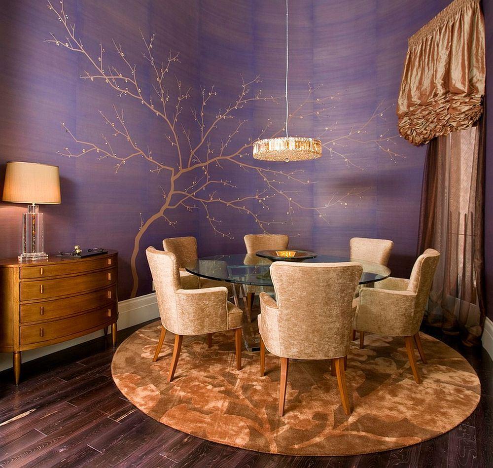 Textile Wallpaper Interior Decoration Ideas. Silk type of wallpaper