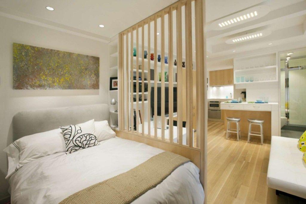 Interior Partitions Room Zoning Design Ideas. Bedroom kitchen divinding with wooden lattice