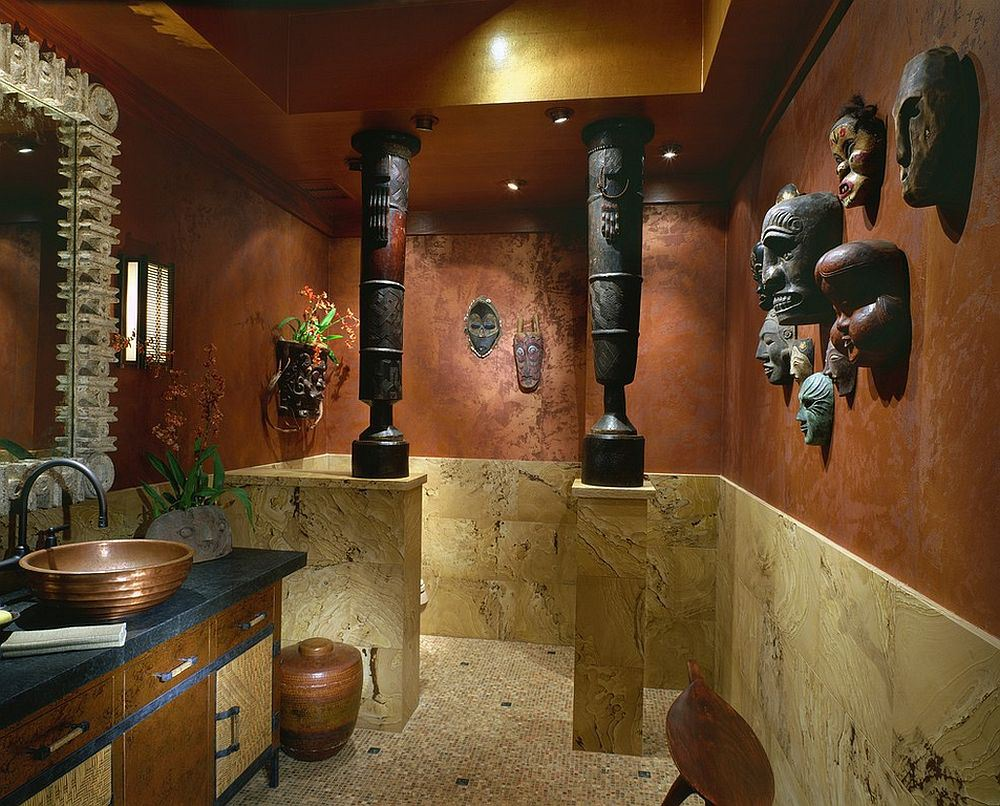African Interior Design Style. royal bathroom finishing