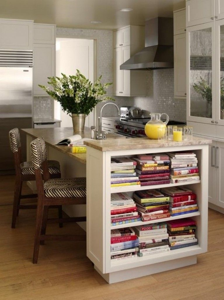 Nice Unusual Bookshelves Interior Decoration right in the kitchen island table