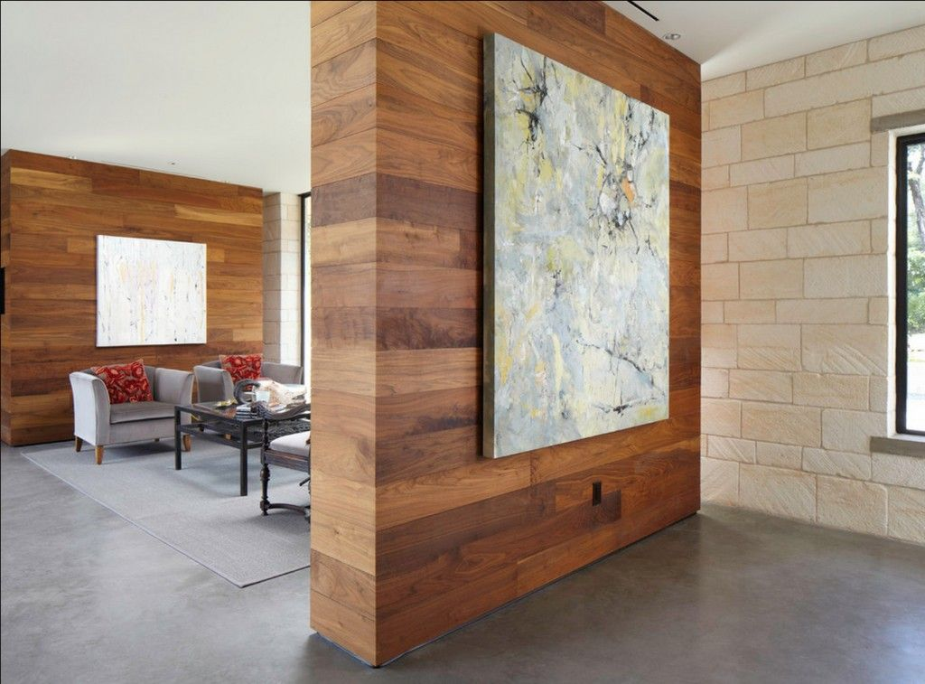 Interior Partitions Room Zoning Design Ideas. Impressionistic picture on the divider