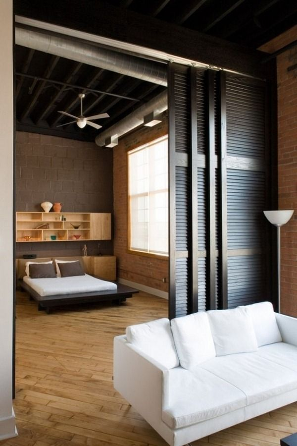 Interior Partitions Room Zoning Design Ideas. Black Folding  Blinds Partitions