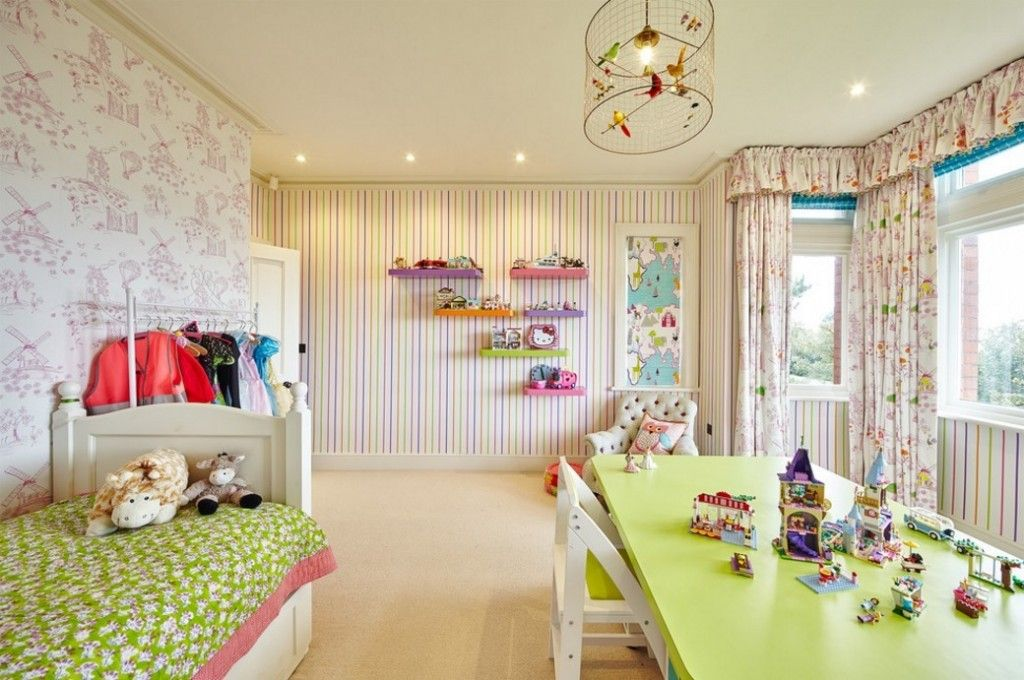 Kids` Room Furniture Selection Advice. Colorful interior in natural calming shades