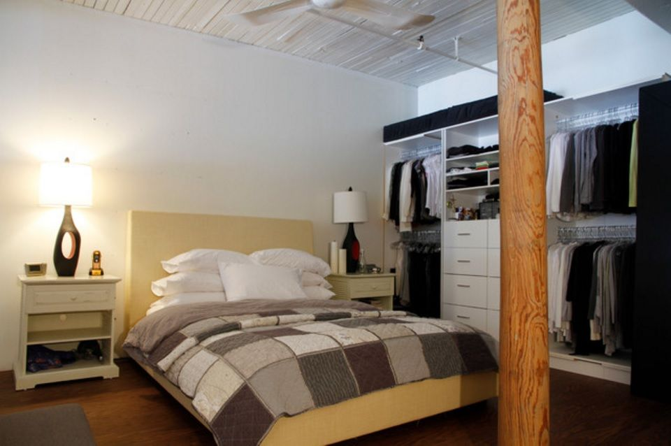 Dream Bedroom Wardrobe Decorating Ideas in the austere Scanfinavian styled condo