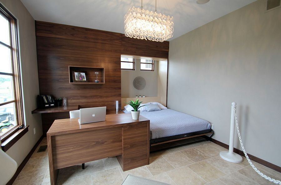 Built-in Bed Small Apartments Interior Design Solution. Business solution for office