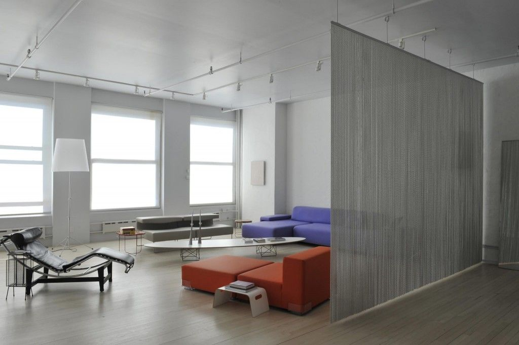 Interior Partitions Room Zoning Design Ideas. Rope curtain as the zoner