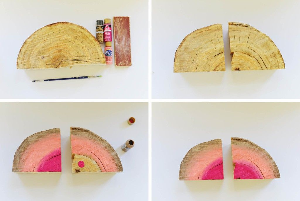 DIY Bookshelf Interior Decorating Idea. Step-by-step instruction to produce the colorful decorative element