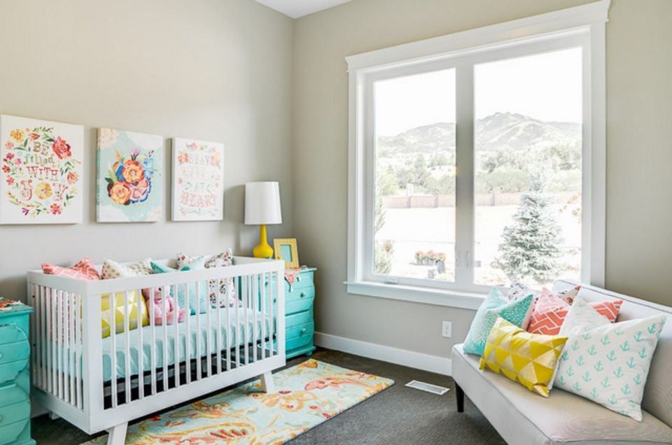 Rugs, Carpet, Carpeting Interior Design Ideas. Childrens room with wide window and many colorfyl toys