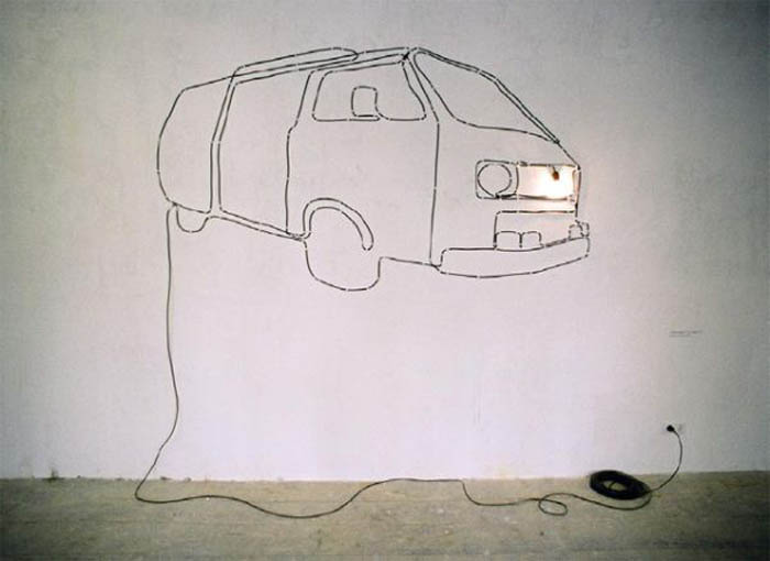 Wires and Cords as Interior Decorating Ideas easily transforming into VW Transporter 5