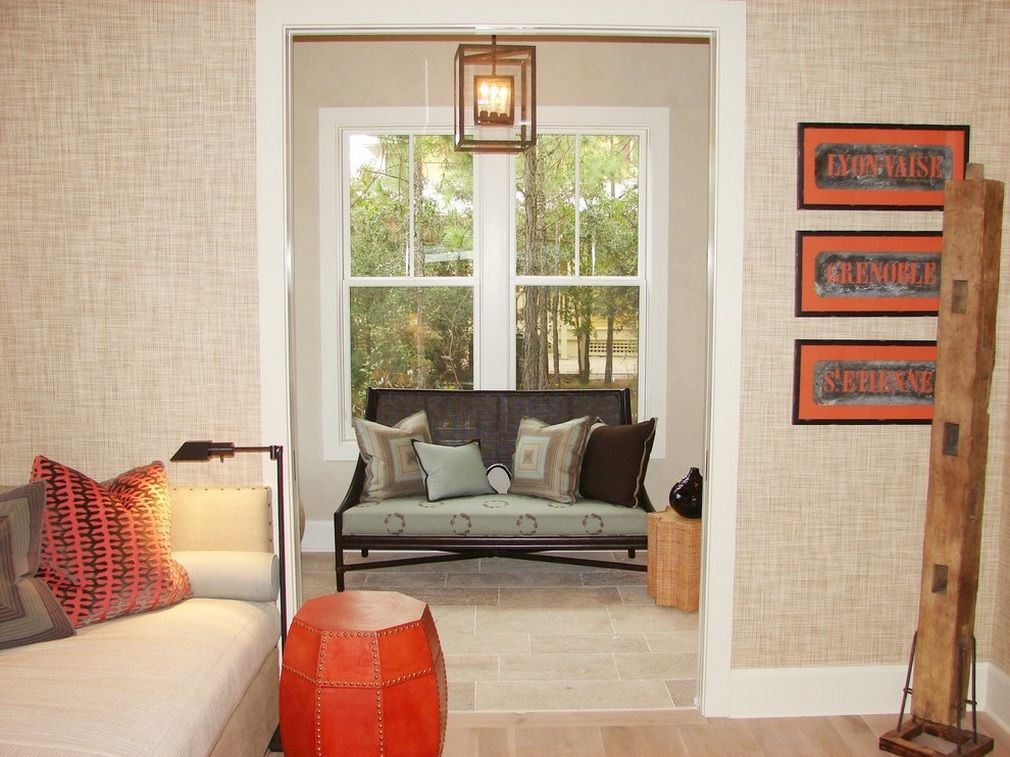 Textile Wallpaper Interior Decoration Ideas. linen wallpaper