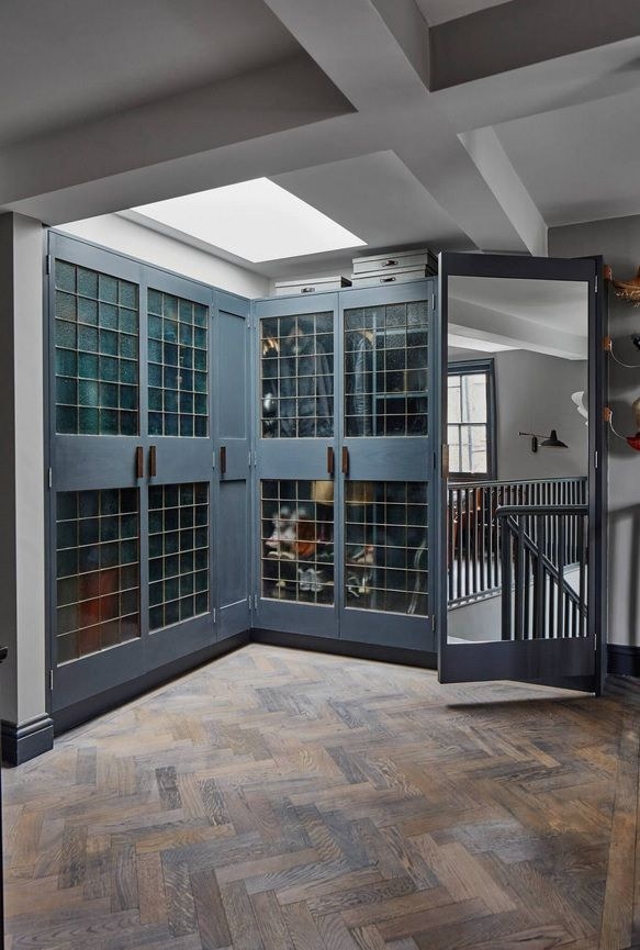 London Apartment Loft Style Interior Design. Wardrobe room