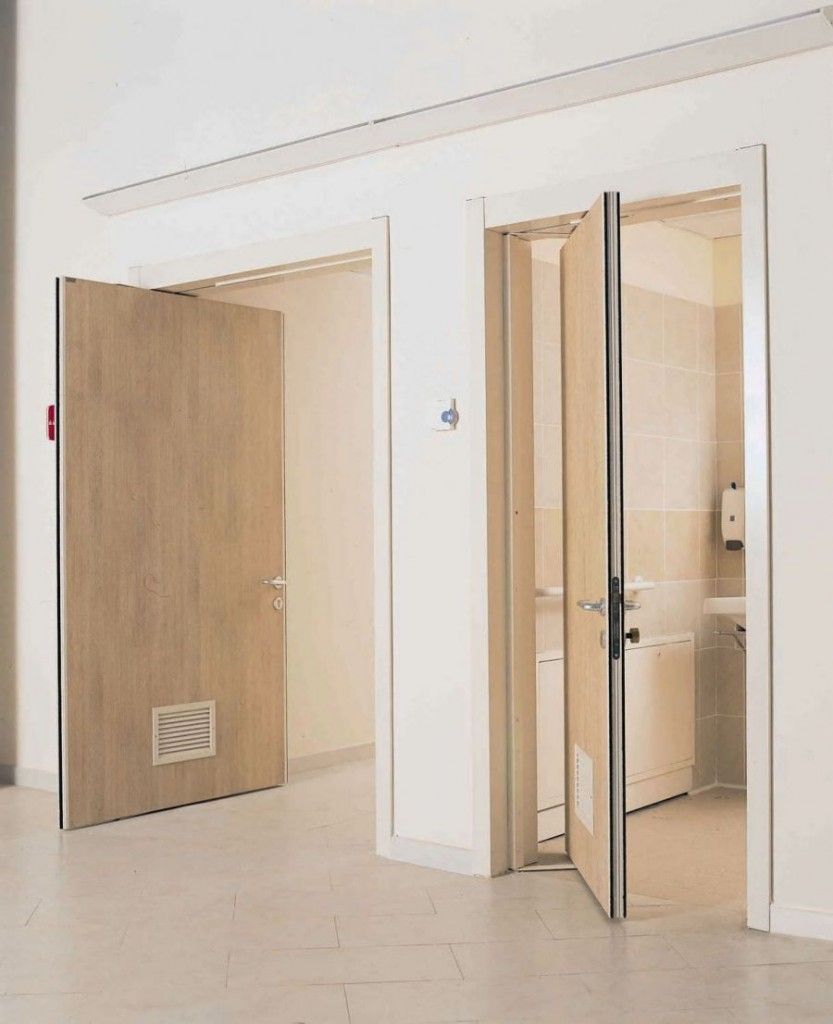 sliding doors interior design ideas. Comparatively innovative roto-door mechanism considered as universal for the small spaces