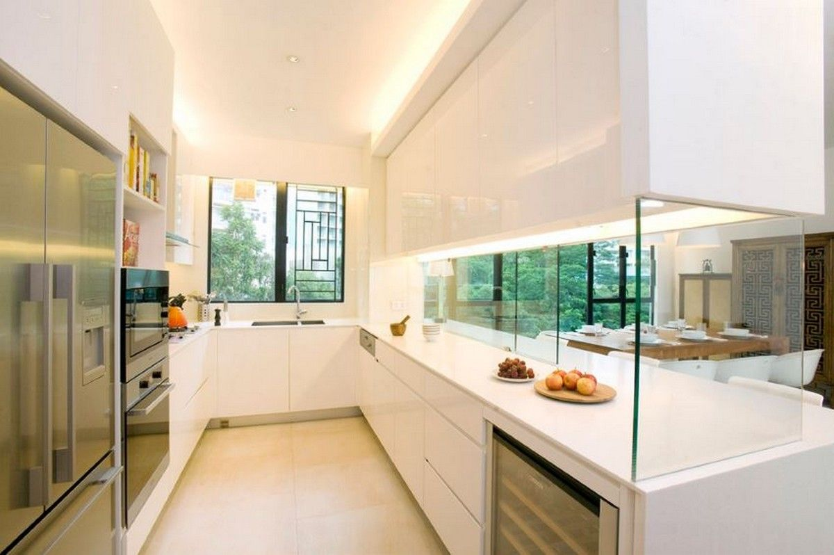 kitchen partition design. For example  here is a furniture ensemble located between the kitchen and dining areas Interior Partitions Room Zoning Design Ideas