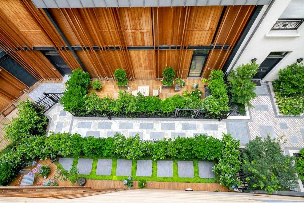Plant Terrace Landscape Decoration Methods. Naturalistic nook in the heart of Paris city