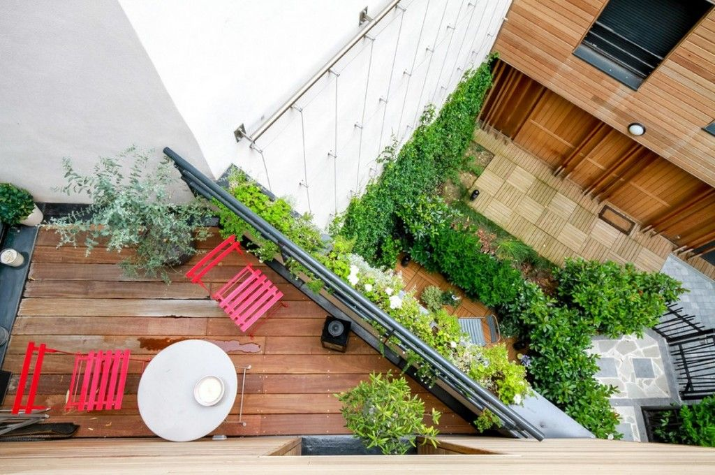 Plant Terrace Landscape Decoration Methods. Paris apartment from the top