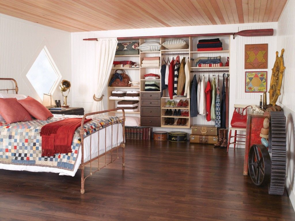 Dream Bedroom Wardrobe Decorating Ideas. Joyful and debonair interior with wooden trim