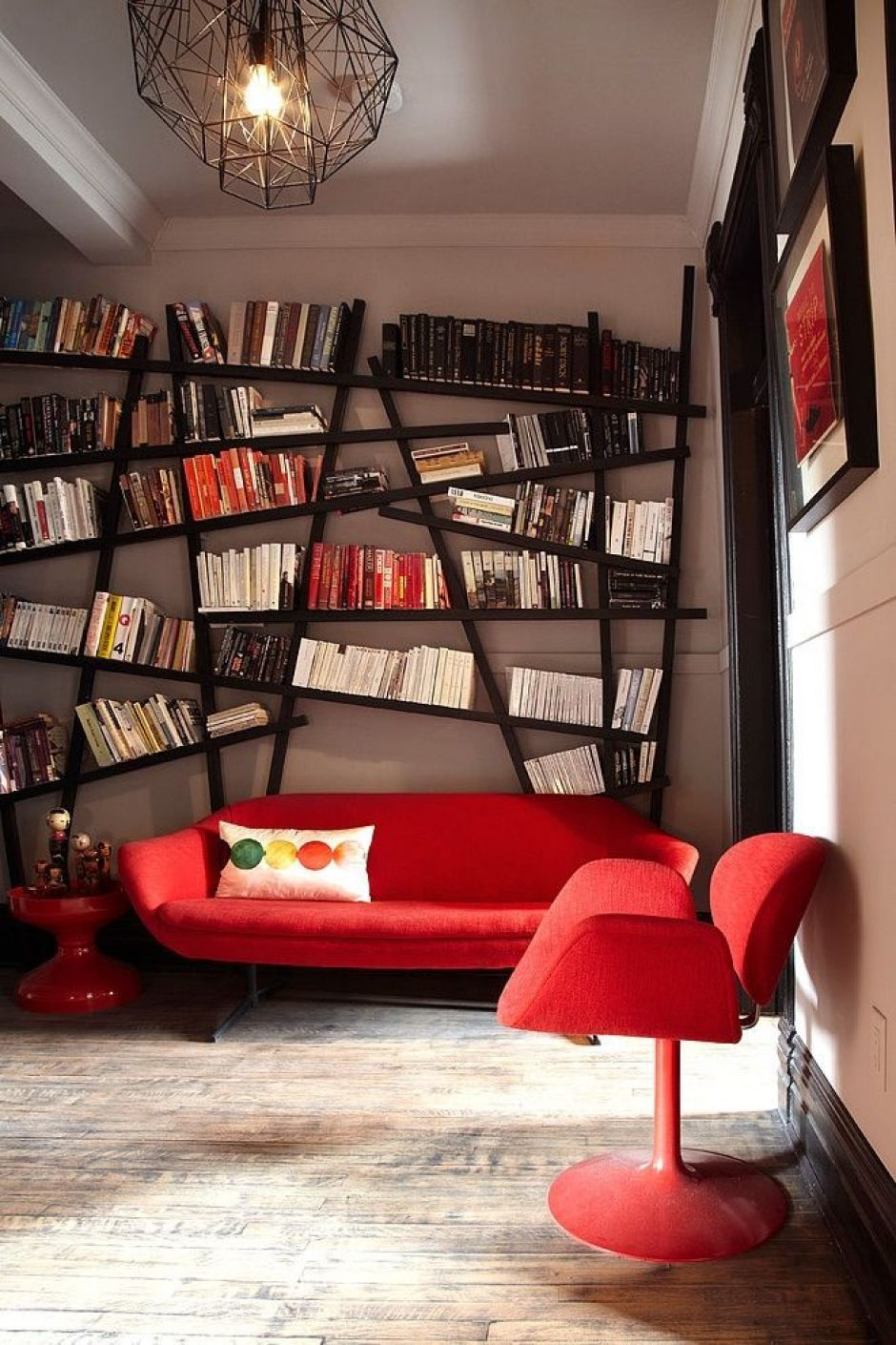 Nice unusual bookshelves interior decoration for home library