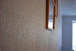 Woodworm Surface Thin-Layer Decorative Plaster Applying Instruction. Apartment decoration